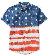 Billabong Red White And Yew Americana Tie-Dye Short-Sleeve Shirt