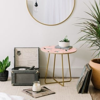 Deny Designs Holli Zollinger Flamingo Pink Round Side Table