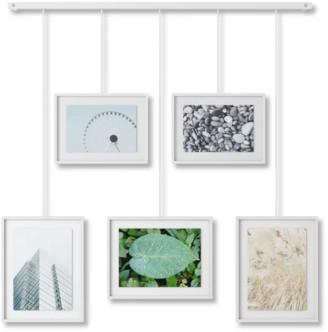 Umbra White Exhibit Set of 5 Hanging Photo Frames
