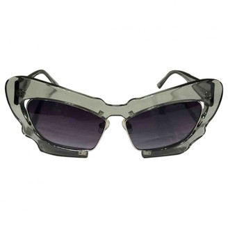Linda Farrow Green Plastic Sunglasses