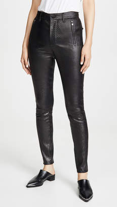 J Brand Lora Super High Rise Leather Skinny Pants