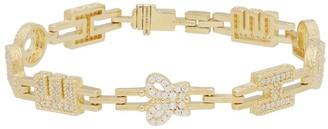 "Judith Ripka 14K Clad Diamonique Hope 6-3/4"" Tennis Bracelet"