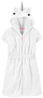 Carter's Little Kid Girls Swimsuit Cover-Up Dress, 5 , White