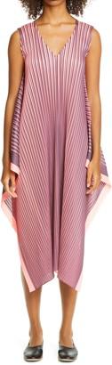 Pleats Please Issey Miyake Ruffle Midi Dress