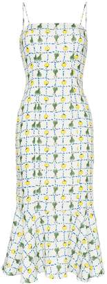 STAUD Lychee print midi dress