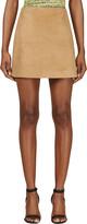 Jonathan Saunders Camel Suede Debbie Mini Skirt