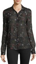 Paige Linara Floral-Print Button-Front Shirt