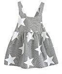 Fheaven Toddler Baby Kids Girls Summer Sleeveless Beach Sundress Star Stripe Party Dress (3T, Gray)