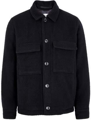 Samsoe & Samsoe Samse & Samse Melito Navy Wool-blend Felt Jacket