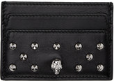 Alexander McQueen Black Skull Studded Card Holder