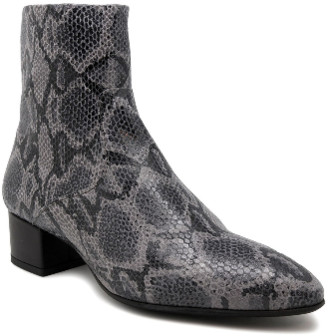 220V - Gray Animal Print Ankle Boots - 37 - Grey/Black
