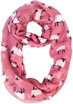 MissShorthair Women's Scarves Fashion Cute Sheep Infinity Pattern Scarves Shawl Wraps