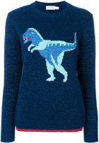 Coach T-Rex embroidered sweater - women - Nylon/Spandex/Elastane/Cashmere/Metallic Fibre - M