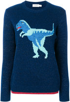 Coach T-Rex embroidered sweater - women - Nylon/Spandex/Elastane/Cashmere/Metallic Fibre - S
