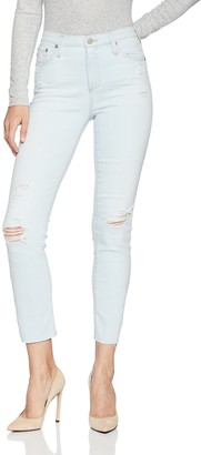 AG Jeans Women's Isabelle High-Rise Straight Crop with Raw Hem