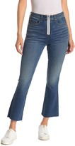 Veronica Beard Carly Kick Flair Crop Exposed Fly Jeans