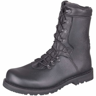 Mil Tec German Army Combat Military Black Mens Police Cadet Leather Boots Type 2000