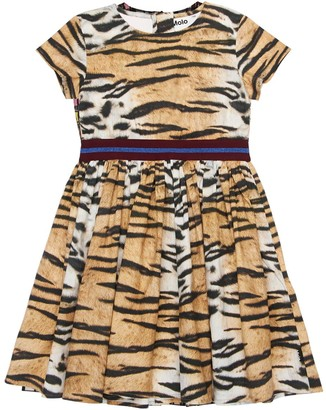 Molo Tiger Print Organic Cotton Dress