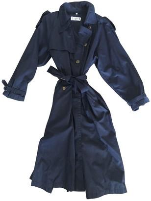 Saint Laurent Blue Cotton Trench Coat for Women Vintage