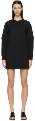 MM6 MAISON MARGIELA Black Sweatshirt Dress