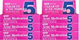 Rugby Benzoyl Peroxide 5 % Generic for Oxy Balance Acne Treatment Medication Gel 1.5 oz 6 PACK
