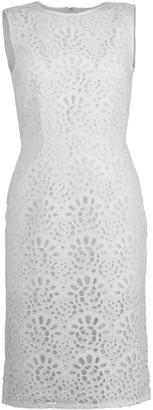 Carolina Herrera Sleeveless Eyelet Sheath Dress