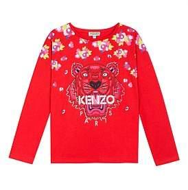 Kenzo Tiger Seasonal Long Sleeve Tee (8-12 Years)
