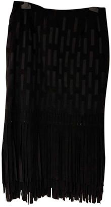 Tamara Mellon Black Suede Skirts