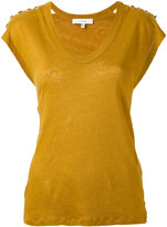 IRO scoop neck T-shirt - women - Linen/Flax - XS