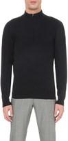 John Smedley Concealed zip merino-wool jumper