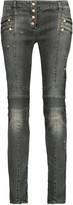 Balmain Low-rise distressed skinny jeans