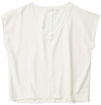 Mod-o-doc Linen Rayon Dolman Sleeve V-Neck Top (Ivory) Women's Clothing