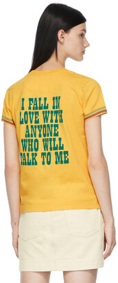 Marc Jacobs Yellow Peanuts Edition 'Fall In Love' T-Shirt