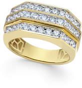 Macy's Men's Diamond Multi-Level Ring (2 ct. t.w.) in 10k Gold