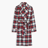 J.Crew Festive plaid flannel robe