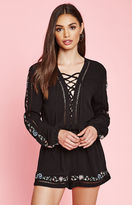 KENDALL + KYLIE Kendall & Kylie Long Sleeve Embroidered Romper