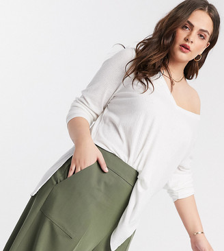 ASOS DESIGN Curve tailored clean culotte