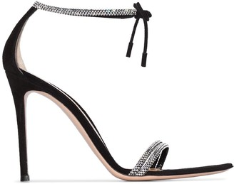 Gianvito Rossi Crystal Strap 115mm Sandals