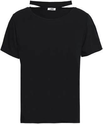 LnA Cutout Slub Cotton-jersey T-shirt