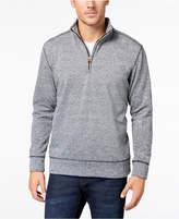 Weatherproof Vintage Men's Fleece Melange Quarter-Zip Sweater