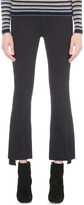 MiH Jeans Marrakesh flared cropped high-rise stepped hem jeans