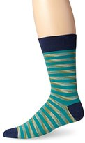 Pact Men's Space Dye Striped Crew Sock