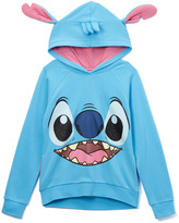 Jerry Leigh Blue Disney Cosplay Stitch Hoodie - Girls