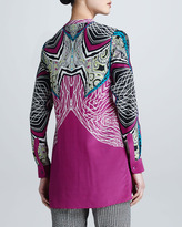 Etro Long-Sleeve Printed Button-Front Blouse
