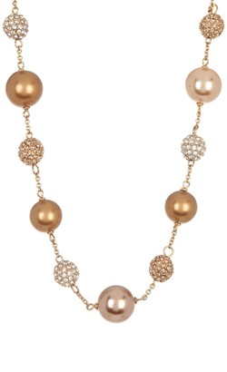 "Carolee Imitation Pearl 16"" Illusion Necklace"