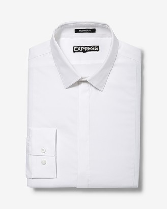 Express Classic Fit Basic Tuxedo Dress Shirt