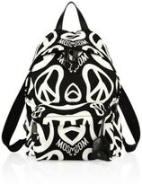 Moschino Two-Tone Printed Backpack