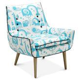 Jonathan Adler Mrs. Godfrey Chair in Jungle Sky