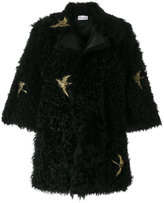 RED Valentino swallow bird patch coat