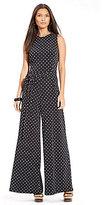 Lauren Ralph Lauren Belle Belted Polka Dot-Print Jumpsuit